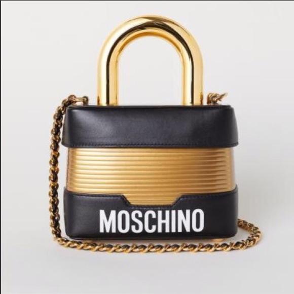 e4e6bec5a2f moschino H&M Bags | Moschino X Hm Lock Shoulder Bag Limited Edition ...